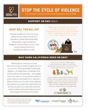 The Animal Cruelty & Violence Intervention Act of 2019